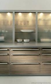 modern glass cabinet kitchen cabinet lighting light wood kitchen