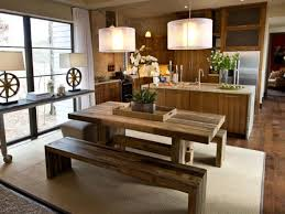 dining room tables with bench benchwright extending dining table