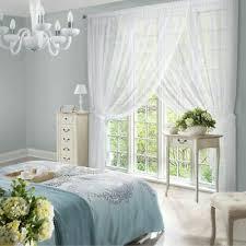 weisse gardine voile wohnzimmer kräuselband landhaus