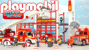 Playmobil City Action! Build And Play Fire Station, Fire Truck ... Playmobil 4820 City Action Ladder Unit Amazoncouk Toys Games Exclusive Take Along Fire Station Youtube Playmobil 5682 Lights And Sounds Engine Unboxing Wz Straacki 4821 Md With Rescue Playset Walmart Canada Toysrus Truck Emmajs Airport Sound Saves Imaginext Batman Burnt Batcopter Dc Vintage Playmobil 3182 Misb Ebay