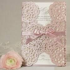 Filigree Lace Laser Cut Gatefold Wedding Day Invitation