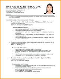 Resume Template 2018 Philippines Feat 5 To Make Perfect Examples Objective 912