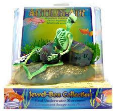 Spongebob Aquarium Decorating Kit by Penn Plax Penn Plax Action Air Jewel Box Skeleton Aerating