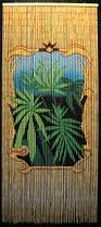 Bamboo Bead Curtains For Doorways by Bamboo Beaded Room Divider With Medicinal Marijuana Plants