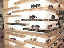 Back Lit Retail Sunglass Display With Plywood Shelves Ideas For Optical Clinics The Would Look Great In A High End Optometry Clinic
