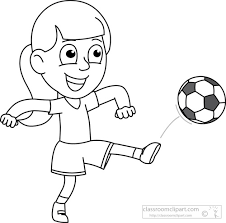 New Soccer Player Clipart Black And White 56 For Your Free Clip
