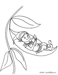 Elf Sleeping On A Flower Reading Coloring Page