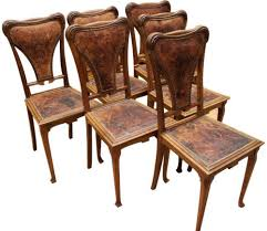 Dining Chairs Art Nouveau Set 6 Antique French 1900 Walnut Nailhead ... Set Of 8 Vintage Midcentury Art Nouveau Style Boho Chic Italian Stunning Of Six Inlaid Mahogany High Back Chairs 2 Pair In Antiques Atlas Lhcy Solid Wood Ding Chair Armchair Lounge Nordic Style A Oak Set With Table Seven Chairs And A Side Ding Suite Extension Table France Side In Leather Chairish Gauthierpoinsignon French By Gauthier Louis Majorelle Caned An Edouard Diot Art Nouveau Walnut And Brass Ding Table Four 1930s American Classical Shieldback 4