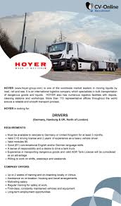 Job Ad - DRIVERS (GERMANY, HAMBURG & UK, NORTH OF LONDON), Germany ... Class 1 Highway Drivers Need In Surrey Bc Xtl Transport Inc Whats Causing Truck Driver Shortages Gtg Technology Group 9 Stretches For Bet Theyd Work Other Drivers On Owner Wants Dea To Pay Up After Botched Sting Houston Chronicle Doft Uber Trucking Apps How Write A Perfect Resume With Examples A Work For Warriors Need The Growing Industry Opportunities Chrisleetv Commercial Truckdrivers Are In Short Supply But Milwaukee Is Retention Archives Workhound 5 Skills That Will Make You An Outstanding Pneumatics Facilitates Of Aventics Sverige