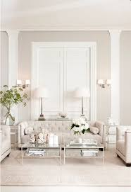 Tufted Sofa In An All White Living Room