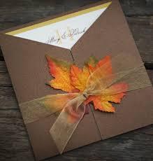 Sample Fall Wedding Invitation Autumn Glory Leaves