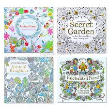Children Adult Coloring Books Secret Garden Animal Kingdom Fantasy Dream And Enchanted Forest Colouring Book 24 Pages Painting Drawing Cool