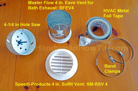 Ventline Bathroom Ceiling Exhaust Fan Grill by How To Install A Soffit Vent And Ductwork For A Bathroom Vent Fan