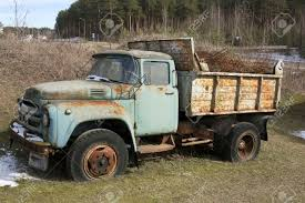 The Old Rusty Forgotten Soviet Mass Production Truck Of The.. Stock ...