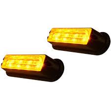100 Strobe Light For Trucks Amazoncom Amber 4LED Waterproof 12V Car Truck Emergency Warning