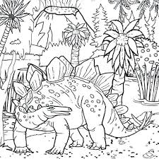 Dinosaur King Coloring Pages Free Dinosaurs Cute Preschool Good