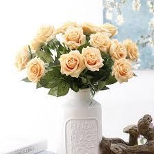Cheap Artificial Flowers for Weddings Roses Silk Flower Centerpieces