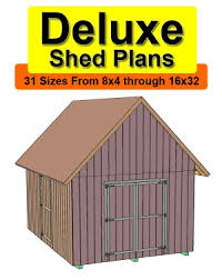 Gambrel Shed Plans 16x20 by Buy 16x20 Deluxe Gable Roof Shed Plans Free Materials U0026 Cut List