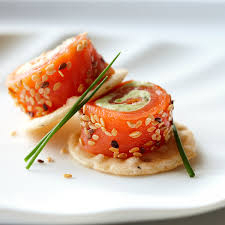 canapés saumon fumé saumon fumé châtelaine