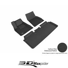 Maxpider Floor Mats Canada by 3d Maxpider 3pc Black Kagu Floor Mats Fits Tesla Model S 12 17