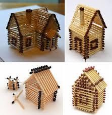 Miniature Handicraft From Sticks Of Matches