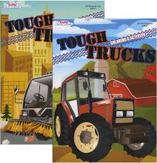 100 Tough Trucks TOUGH TRUCKS FOIL EMBOSSED Coloring Activity B Tree House Toys