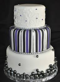 Purple Black And Silver Wedding Cake On Central
