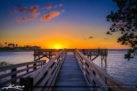 Bathtub Beach Stuart Fl Beach Cam by Bathtub Reef Beach Fishing Pier At Bessie Cove Stuart Florida Sunset