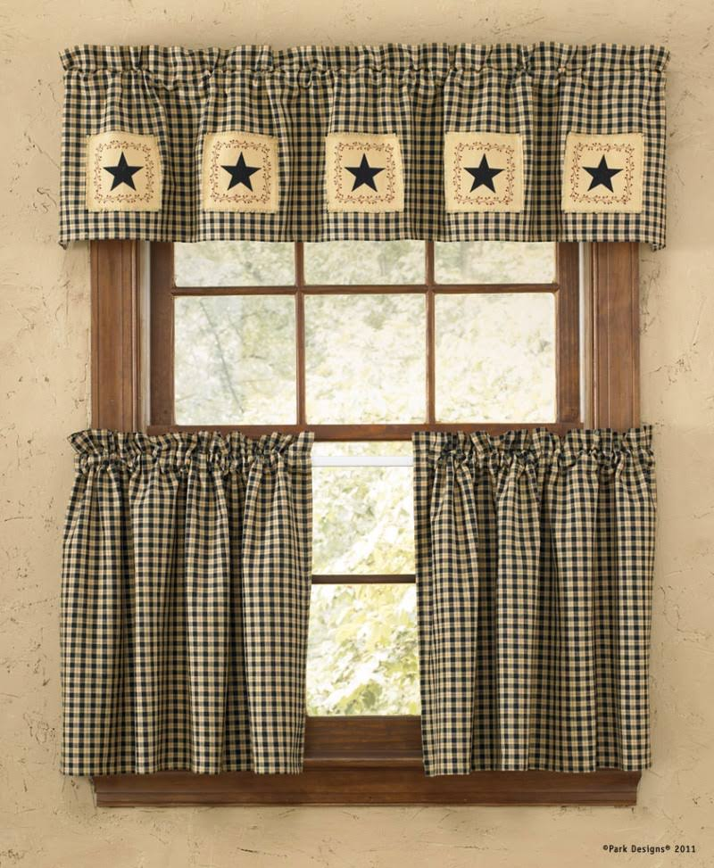 Park Designs Star Patch Lined Valance