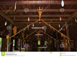 100 Wooden Houses Interior Traditional In The Kuching To Sarawak Culture Village