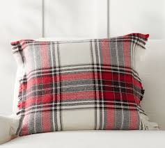 hamilton plaid pillow cover pottery barn