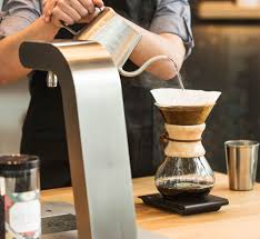 A ChemexR Brewer Is Specialized Version Of Pour Over With An Elegant One Piece Hourglass Shaped Vessel Made Heat Resistant Glass