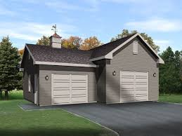 Car lift garage plan with another single car bay attached that can