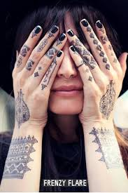 Black Henna Temporary Tattoos Mehndi 2 Sheets