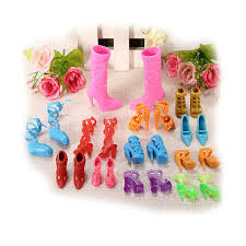 Amazoncom Miniature 12 Pairs Fashion Dolls Shoes Heels Sandals Set