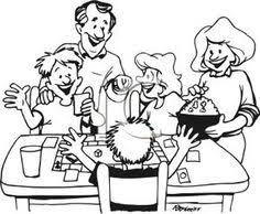 Family Playing Games Clip Art Black And White