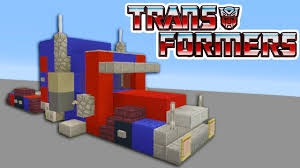 Minecraft Tutorial: How To Make A Optimus Prime Truck