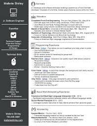 Resume Of A Web Developer Front End Sample