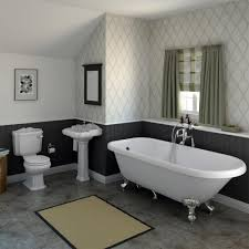 Let The Light In Terrific Roll Top Bath Bathroom Ideas - Free ... Neutral Graphic Wallpaper Takes This Small Bathroom From Basic To Bold Removable Wallpaper Patterns For Small Bathrooms The Alluring Bathroom Bespoke Best Wall Covering For Ideas Waterproof Walllpaper Paper Glamorous With 3d Porcelain Tile Ideas 342 Full Hd Wide 40 Design Top Designer Fascating Grey Virtual Remodel Dream 17 Stylish Victorian Plumbing Black And White Hawk Haven
