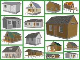 Gambrel Shed Plans 16x20 by Bunkhouse Barn Blueprints And Plans