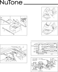 Nutone Bathroom Exhaust Fan 8814r by Nutone Bathroom Fan Light Wiring Diagram Wiring Diagram And