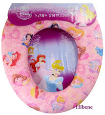 Frog Potty Seat With Step by Disney Princess Children Potty Toilet Training Seat Cover Soft