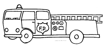 Fire Truck Cute Free Coloring Pages Printable