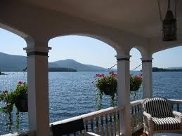 View of Lake George from Boathouse Picture of Boathouse Bed and