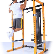 PowerTec Power Squat Rack Cage Gym System & Lat Tower WB PR16LTO