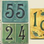 Mexican Tile House Numbers With Frame by Top Tile House Numbers With Mexican Talavera Tile House Numbers