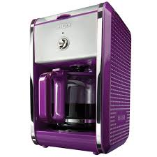 Amazon BELLA 13740 Dots Collection 12 Cup Coffee Maker Purple Kitchen Dining