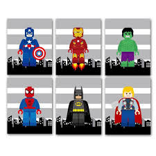 Super Hero Wall Decor Art Prints PICK 3 By AmysSimpleDesigns 3200