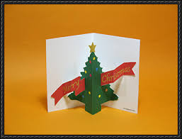 Christmas Pop Up Card Free Paper Craft Download