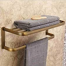 homelava handtuchhalter bad mit regal wandmontage antik
